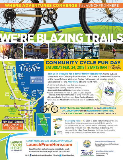 We're Blazing Trails. Exciting fun day for bicyclers in Titusville