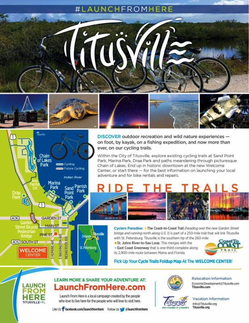 Ride the Trails in Titusville Florida - flyer